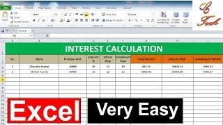 Interest calculation Microsoft excel Advance Formula screenshot 2