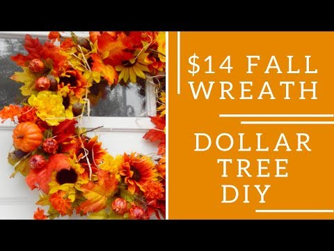 Fall DIY | Fall Wreath | Dollar Tree DIY | Tutorial | Kimberly Rowe | $14 DIY