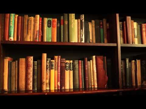 Free Stock Footage - Bookshelf With Old Books 01