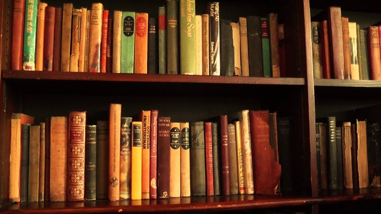 Free Stock Footage Bookshelf With Old Books YouTube - Old book case
