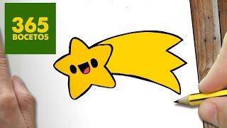 COMO DIBUJAR UN ESTRELLA PARA NAVIDAD PASO A PASO: Dibujos kawaii navideños - How to draw a star