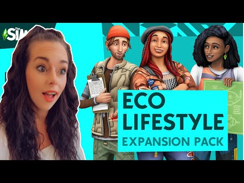 REACTING TO THE SIMS 4 ECO LIFESTYLE EXPANSION PACK!! |