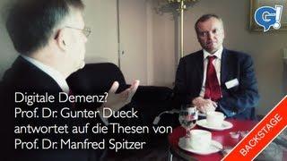 Backstage: Gunter Dueck vs. Manfred Spitzer / Digitale Potenz vs. Digitale Demenz   G!blog (vlog)