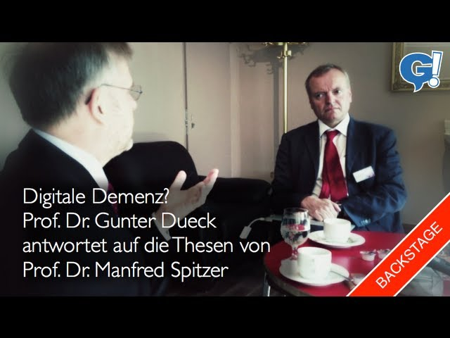 Backstage: Gunter Dueck vs. Manfred Spitzer / Digitale Potenz vs. Digitale Demenz | G!blog (vlog)