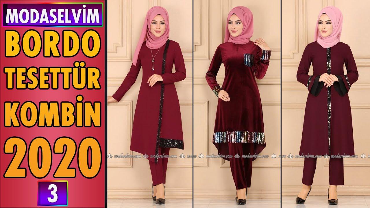 Modaselvim Bordo Tesettür Kombinleri 2020 (3)   Hijab Combinations by Modanzi Tesettür