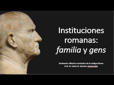 Instituciones romanas I: familia y gens