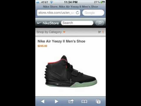3798c15c4 Air Yeezy 2 Nike Store Online Release Expierence - YouTube