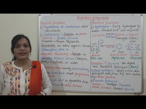 Properties Of Glycosides (Physical And Chemical Properties) Hindi