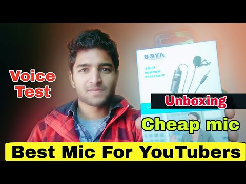 Boya BY M1 Laveliar Mic Unboxing | Budget Mic For Youtubers |Technical Akash