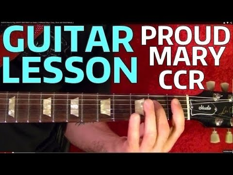 Proud Mary 🔷 CCR 🔷 Guitar Lesson - Beginners - YouTube