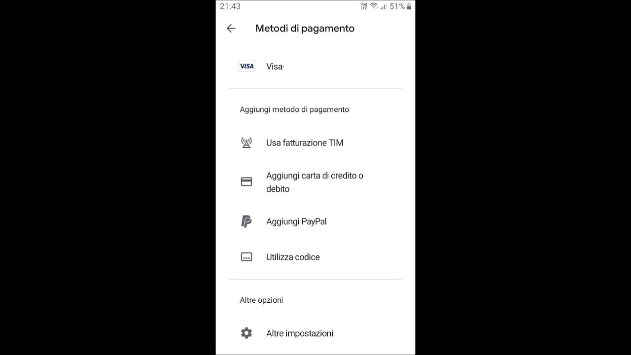 Area Personale Iliad: come modificare il metodo di pagamento