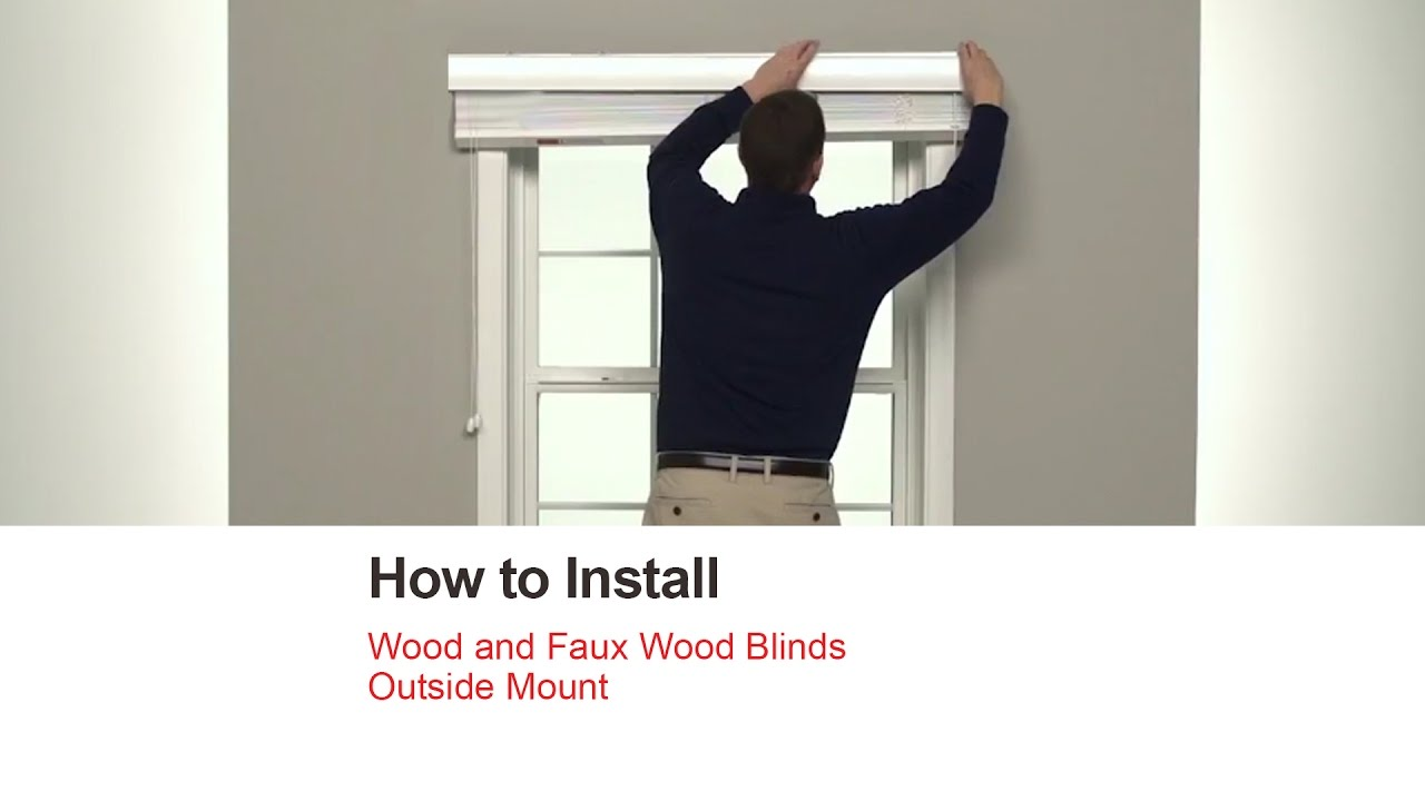 Faux Wood Blinds Outside Mount
