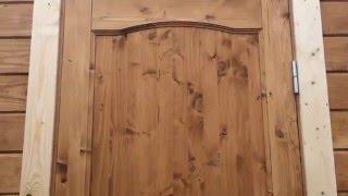 Дверь филенчатая 70х200см для домиков и бытовок(Филенчатая Дверь из массива дерева, шириной 60/70см. Эти двери из-за своей высоты устанавливается только на..., 2015-05-21T17:14:34.000Z)