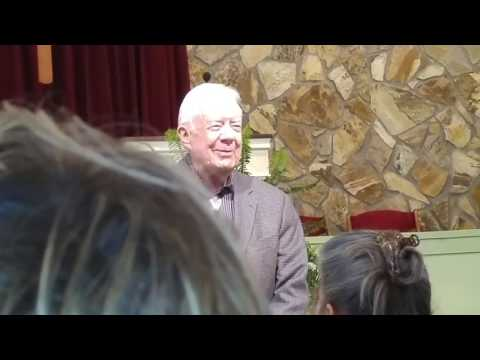 President Jimmy Carter's intro to Sunday school teaching