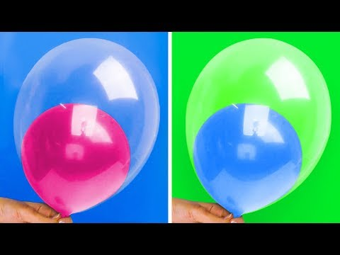 13 HACKS AND CRAFTS WITH BALLOONS