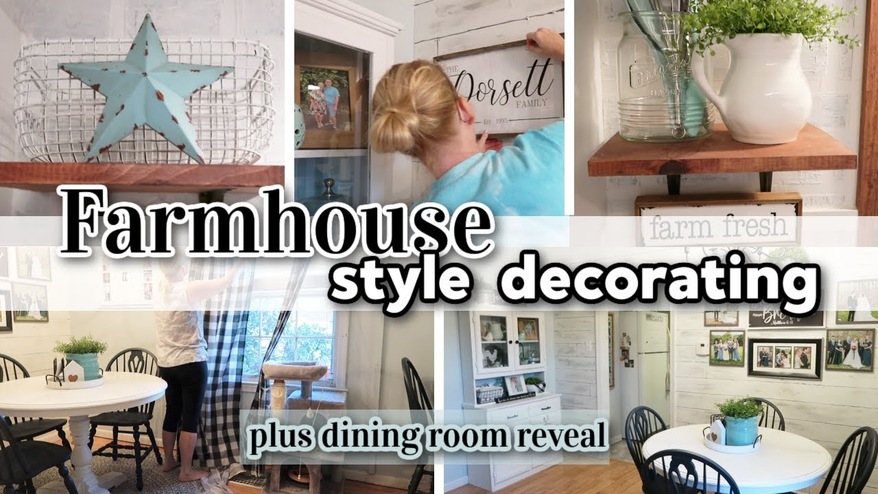 FARMHOUSE DECORATING VLOG / SPEND THE DAY WITH ME / DINING ROOM REVEAL / FARMHOUSE DINING ROOM DECOR