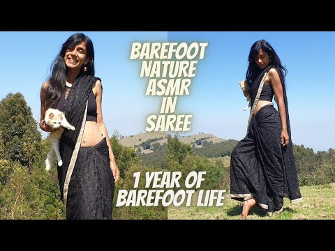 Barefoot in Nature ASMR (in Saree)