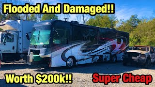 Download Looking at A Wrecked 2018 Freightliner Chassis Motorhome Rv Worth $200,000 At Copart Salvage Auction Mp3 and Videos