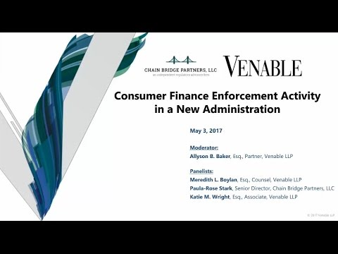 Consumer Finance Enforcement Activity in a New Administration