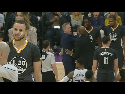 Steve Kerr Ejected! Stephen Curry Blew a Layup! Durant Disappeared! Warriors vs Kings