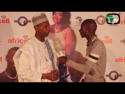Hon.  Hamat Bah, Minister of Culture and Tourism The Gambia at the Banjul my Love Movie premier