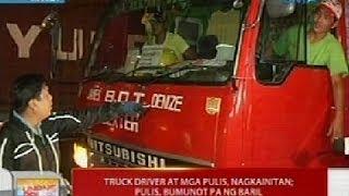UB: Truck driver at mga pulis, nagkainitan sa Maynila kaugnay sa truck ban