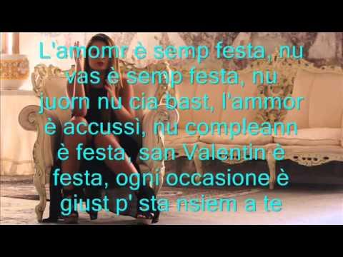 Emiliana Cantone L'ammore è sempre festa più testo