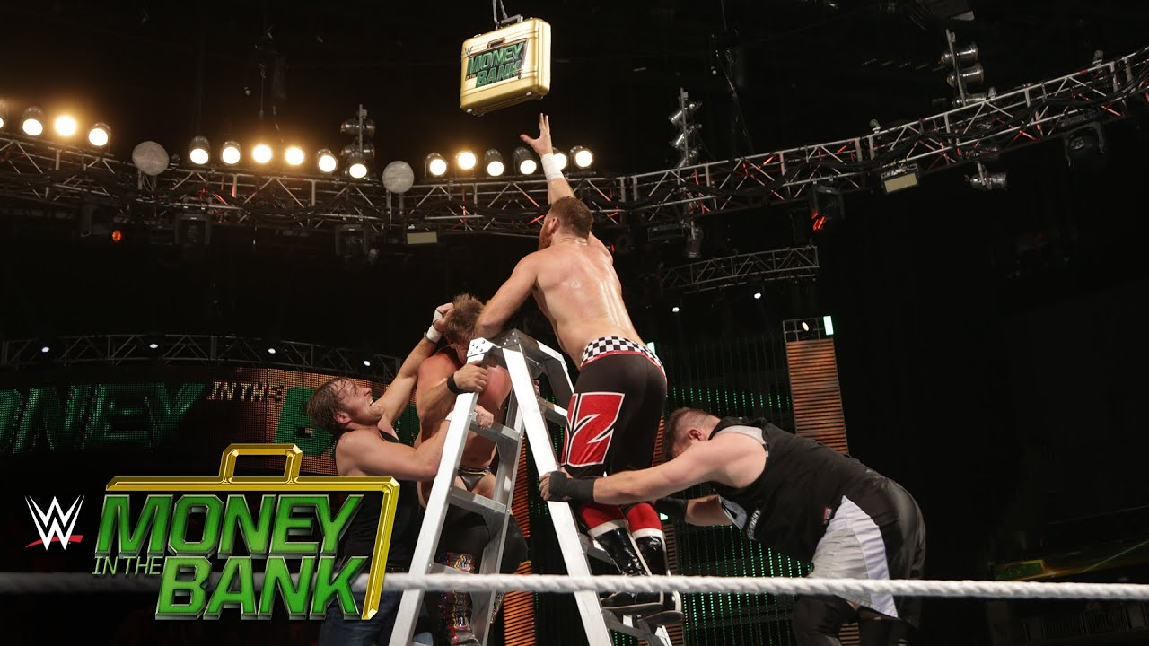 Money In The Bank Contract Ladder Match Wwe Money In The Bank 2016 On Wwe Network Youtube