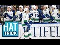 Lagu Brock Boeser collects second career hatty in rout of Blues