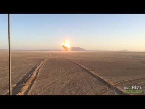 This is what detonating 100,000 pounds ordnance looks like