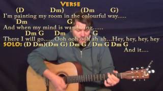 Fixing A Hole (The Beatles) Strum Guitar Cover Lesson in D with Chords/Lyrics