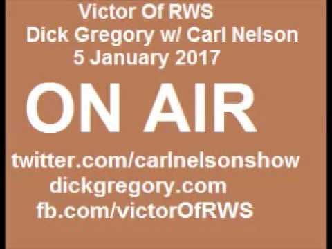 Dick Gregory talking to Carl Nelson on dylan roof, trump, jews January 5 2017
