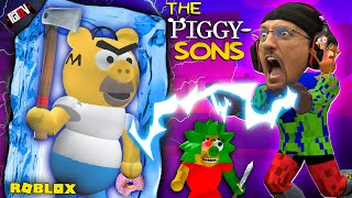 ROBLOX PIGGY meets the SIMPSONS = Escape the PIGGYSONS!  (FGTeeV Wibbit Mode)
