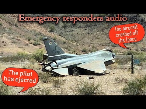 F-16 from the 56th Fighter Wing crashes at Lake Havasu | PILOT EJECTS