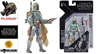 Star Wars The Black Series 6 Inch Archive 01 Boba Fett Toy Action Figure Review | By FLYGUY
