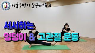 서서하는 엉덩이&고관절 운동(어르신타바타)