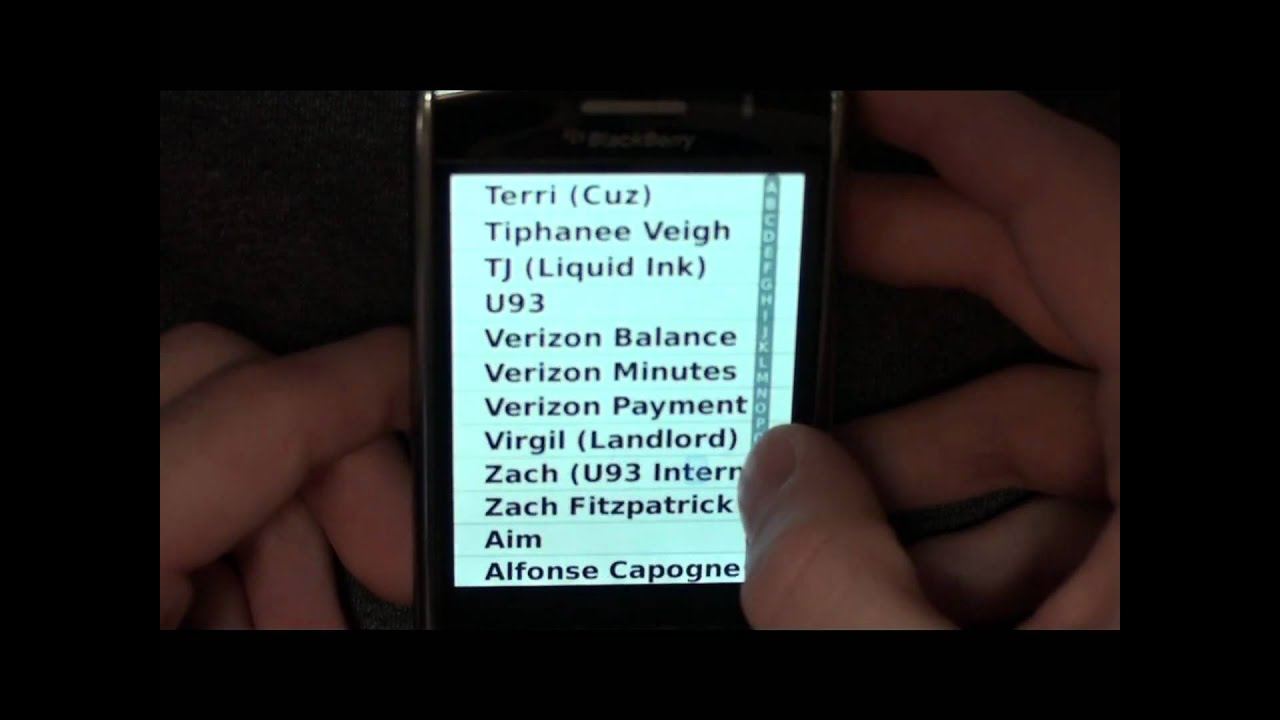 acceloDex - Contact List Application for the Blackberry Storm