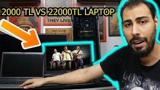 2000 TL VS. 22000 TL PC! En Güçlü Laptop Oyunları Affetmiyor (MSI Titan)