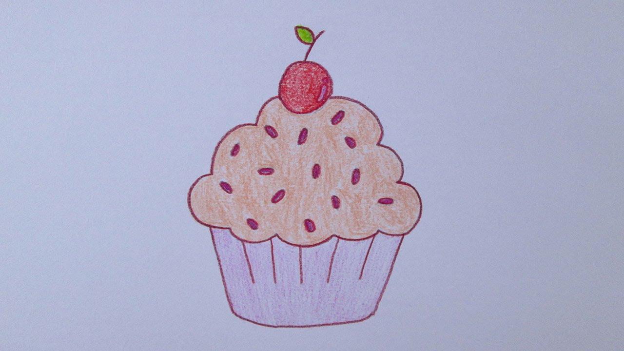 Cómo Dibujar Un Cupcake Youtube