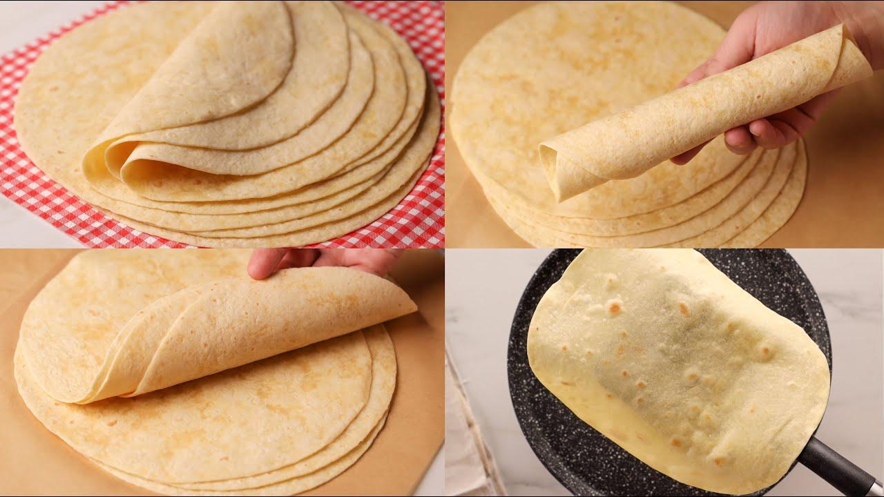 خبز التورتيلا لسندوتشات الشاورما و كل أنواع السندوتشات ينافس الجاهز وبقوة Youtube
