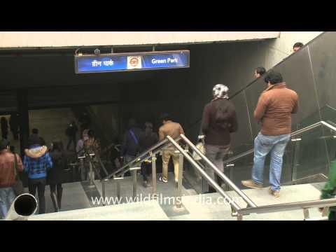 Delhi Metro - Green park station of the yellow line