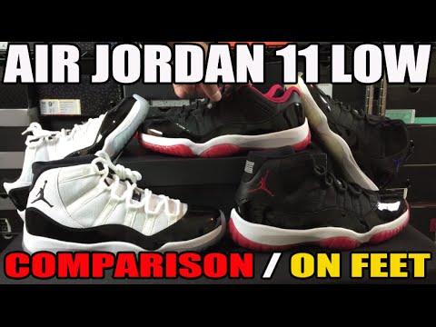 Air Jordan 11 BRED Low vs High Comparison & On Feet Review