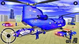 US Police Car Transporter Trailer Truck - City Car Transport Truck Driving - Android Gameplay screenshot 3