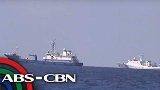 Mga mangingisda sa Scarborough Shoal nagulat sa namataang aircraft carrier | TV Patrol