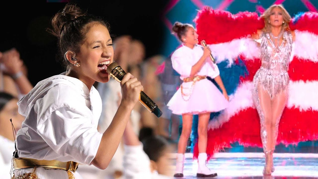 Watch J Lo S Daughter Emme Slay Her Super Bowl Halftime Cameo Youtube