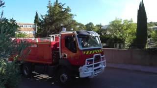 Feu de forêt à Nîmes - 22/08/2016 - Quartier Mas de Mingue