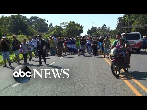Thousands of Central American migrants have illegally crossed into Mexico