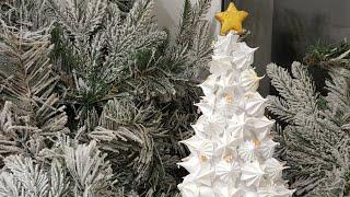 Праздничная ЁЛОЧКА из БЕЗЕ в домашних условиях🌲НОВОГОДНИЙ ДЕКОР🌲 Meringue tree