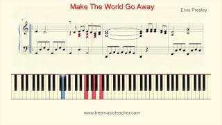 "How To Play Piano: Elvis Presley ""Make The World Go Away"" Piano Tutorial by Ramin Yousefi"