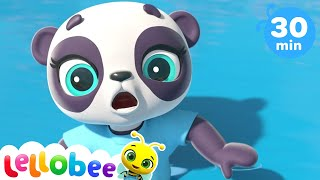 Panda Went Over The Mountain Song! +More Nursery Rhymes - ABCs and 123s | Learn with Little Baby Bum